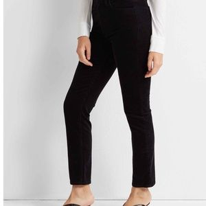 Club Monaco Black Mid Rise Straight leg Jeans